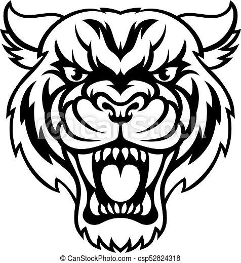 Angry Tiger Sports Mascot - csp52824318