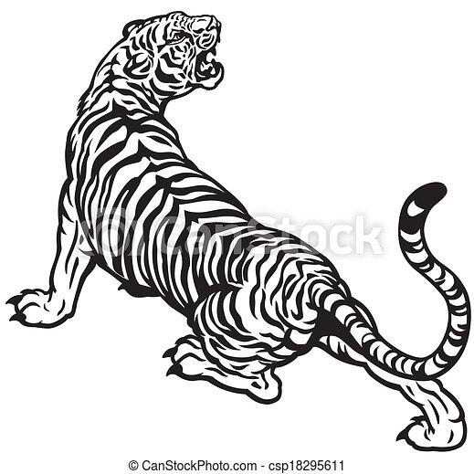 angry tiger - csp18295611
