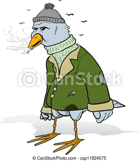 Angry tramp bird - csp11824575