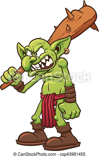 angry troll angry cartoon troll vector clip art illustration with rh canstockphoto com troll clip art free troll clip art for free