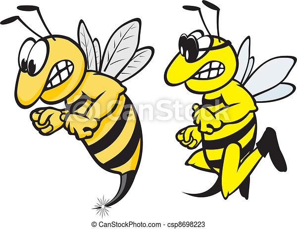 angry wasp - csp8698223