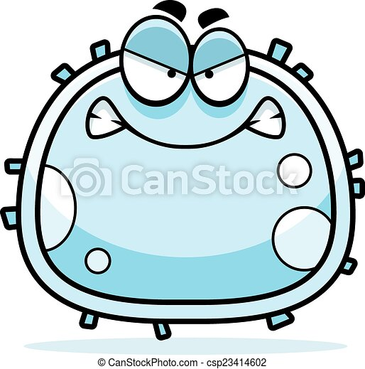 angry white blood cell a cartoon illustration of a white vector rh canstockphoto com cell clipart cell biology clipart