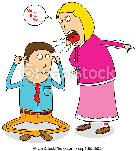 angry wife - csp13953955