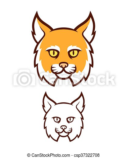 Angry Wildcat Mascot Head Cartoon Bobcat Head Icon Comic Style