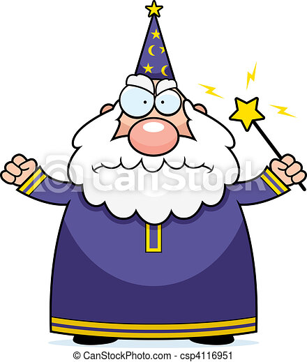 Angry Wizard - csp4116951