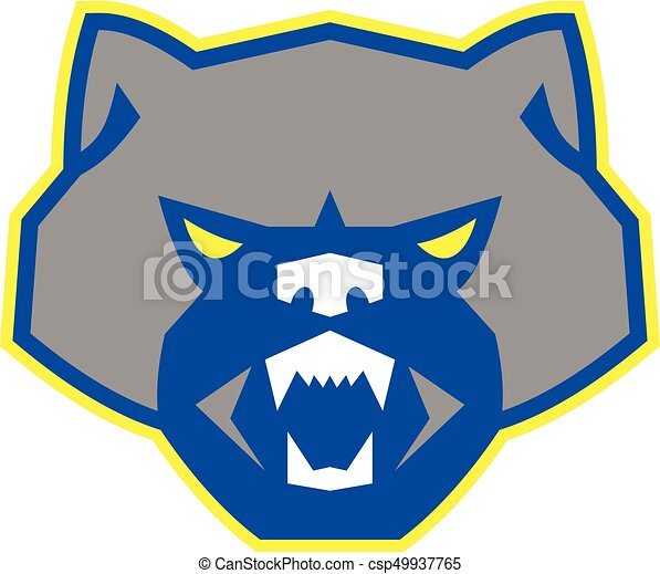 angry wolverine head front retro illustration of an angry clip rh canstockphoto com wolverine clipart images wolverine clipart images