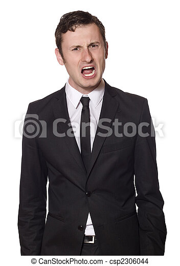 angry yelling businessman  - csp2306044