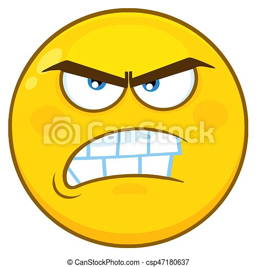 angry yellow cartoon face character with aggressive expressions rh canstockphoto com angry cartoon face images angry cartoon face photos