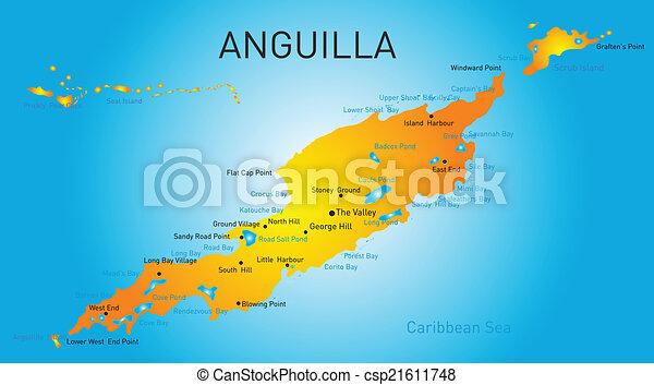anguilla, território - csp21611748