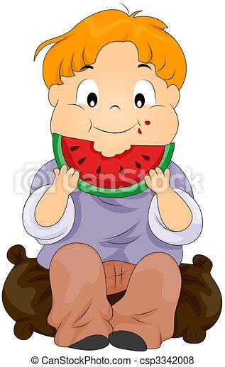 anguria mangia, bambino - csp3342008