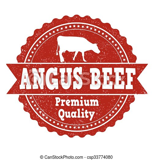 Angus beef stamp - csp33774080