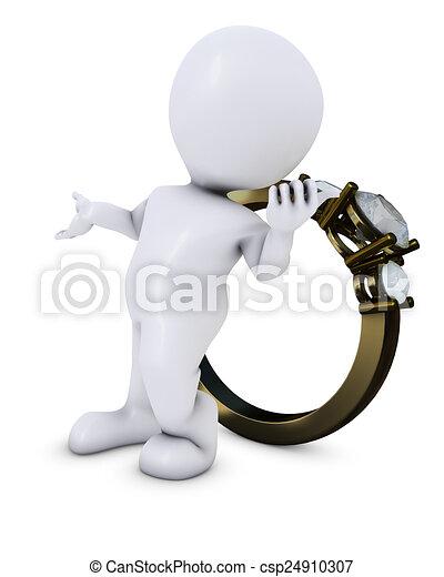 Hombre Morph con anillo - csp24910307