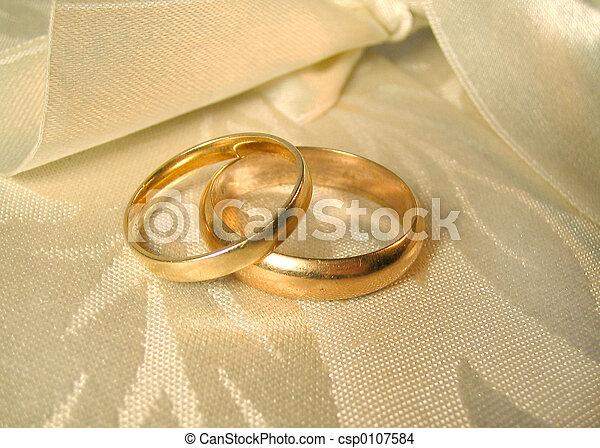 anillos, boda - csp0107584