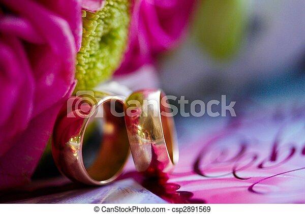 anillos, boda - csp2891569