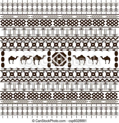 animais, étnico, textura, fundo, arabescos, africano - csp6028881