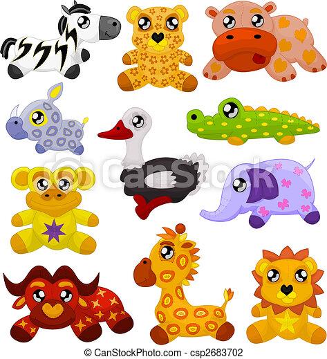 animais brinquedo, africano - csp2683702