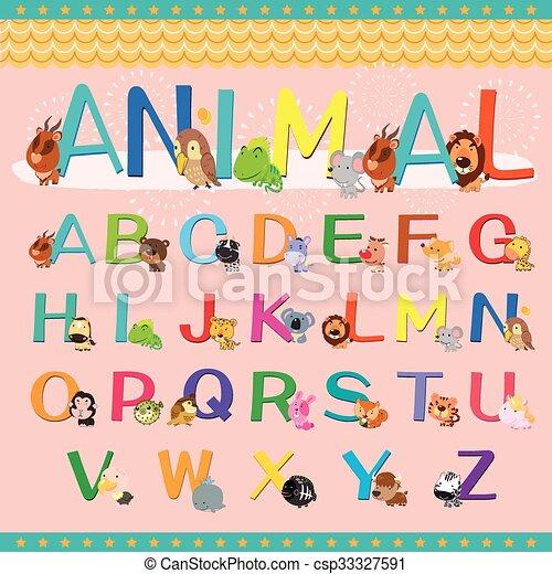 animal alphabet collection - csp33327591