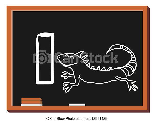 Animal alphabet letter I - csp12881428