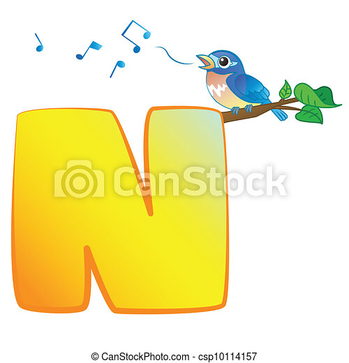Animal Alphabet Animal Alphabet Csp10114157 Can Stock Photo Illustration Of Isolated Animal Alphabet With Nightingale On White
