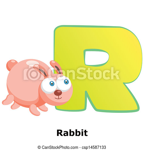 animal alphabet R - csp14587133