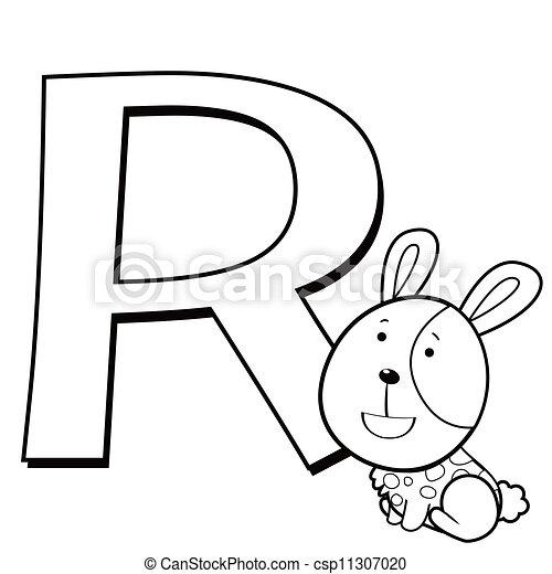 animal alphabet R - csp11307020