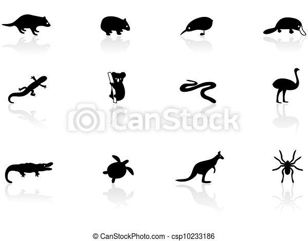 animal australian, ícones - csp10233186