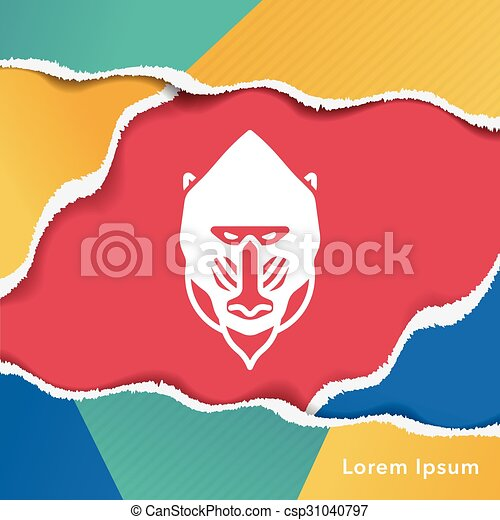 animal Baboon icon - csp31040797