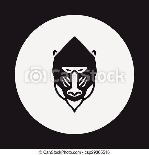 animal Baboon icon - csp29305516