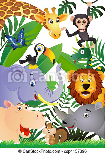 Animal cartoon - csp4157396