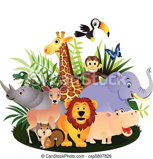 Animal cartoon - csp5807826