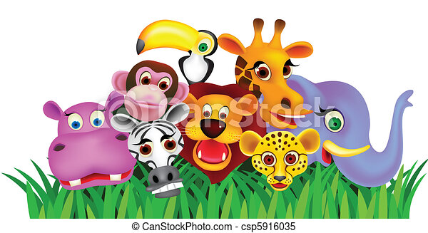 Animal cartoon - csp5916035