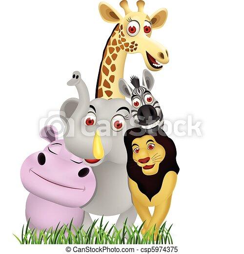 animal cartoon - csp5974375