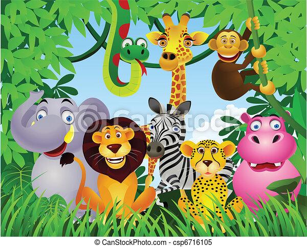 Animal cartoon - csp6716105