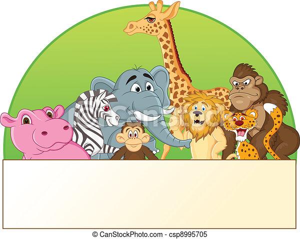 Animal cartoon - csp8995705