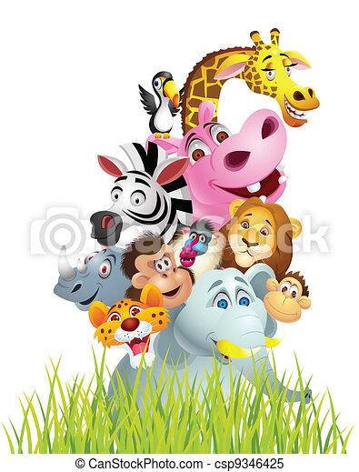 Animal cartoon - csp9346425