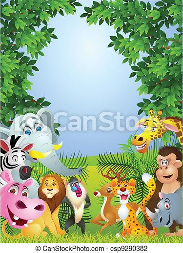 Animal cartoon - csp9290382