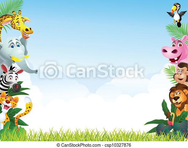 Animal cartoon - csp10327876