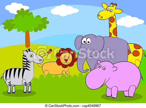 Animal cartoon - csp4049967