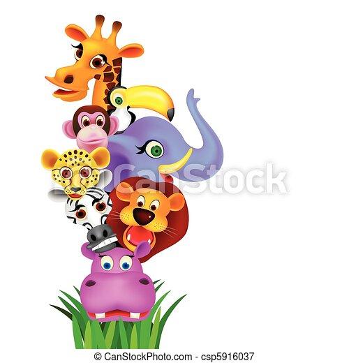 Animal cartoon - csp5916037