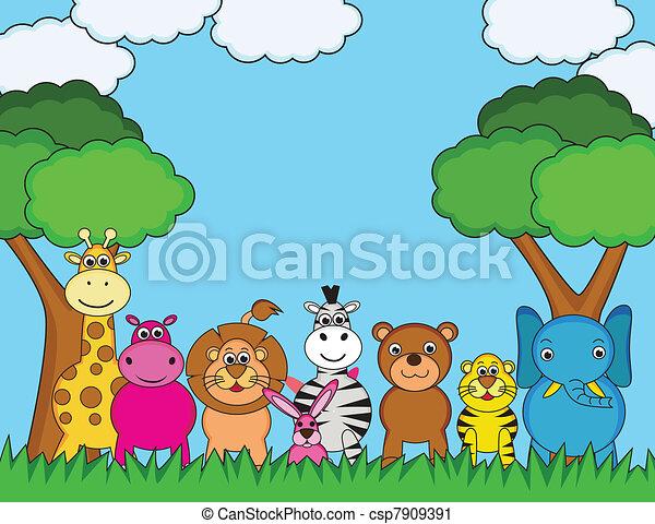 Animal cartoon - csp7909391