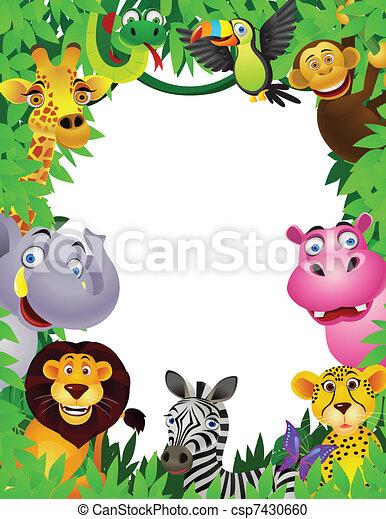 Animal cartoon - csp7430660