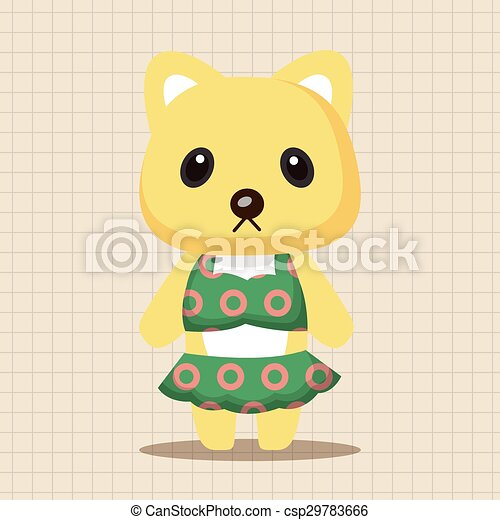 animal cat summer cartoon theme elements - csp29783666