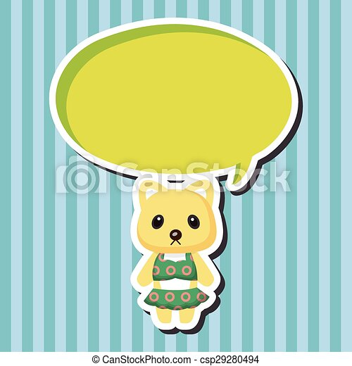 animal cat summer cartoon theme elements - csp29280494