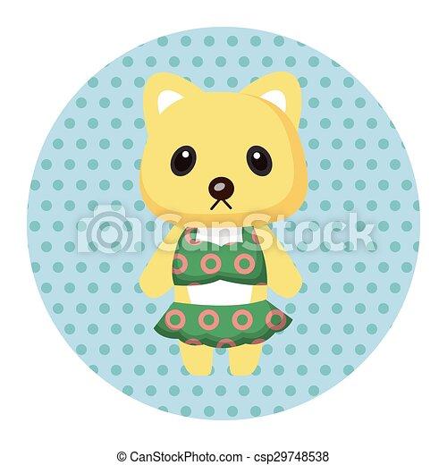 animal cat summer cartoon theme elements - csp29748538