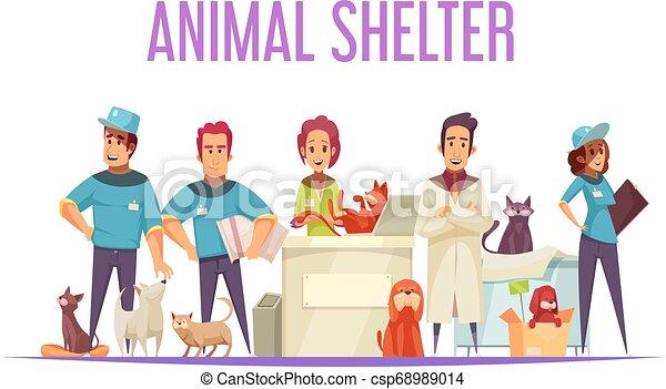 animal, composition, abri - csp68989014