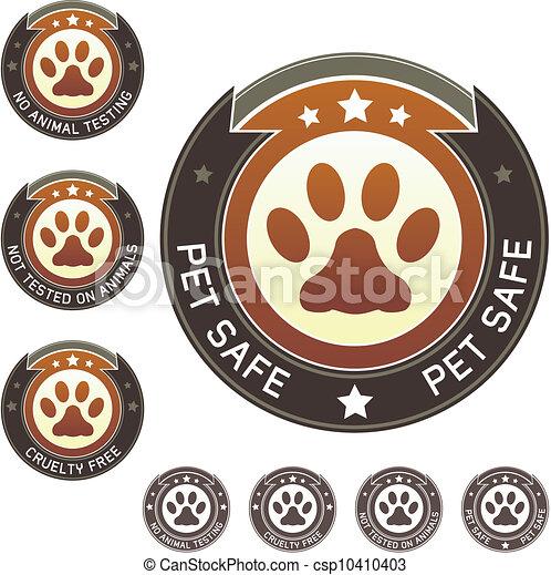 animal estimação, cofre, crueldade, livre, etiqueta, ou - csp10410403