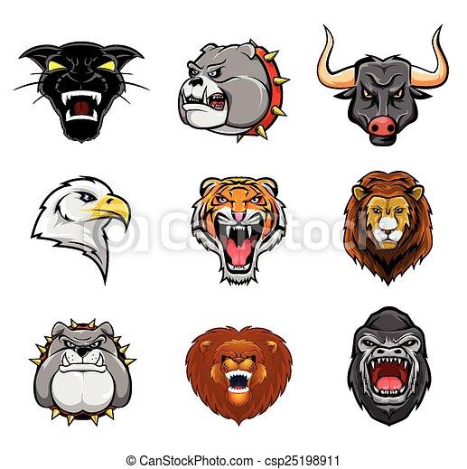 Animal Head Collection : Nine - csp25198911