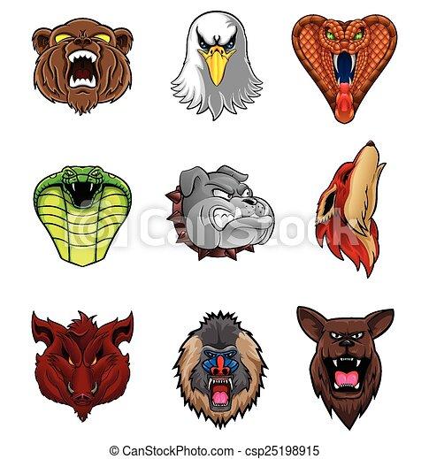 Animal Head Collection : Nine - csp25198915