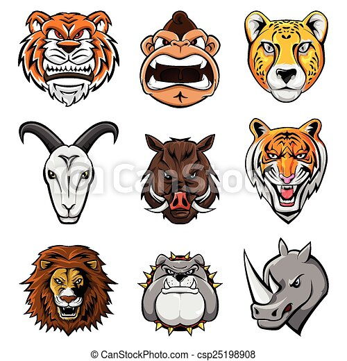 Animal Head Collection : Nine - csp25198908