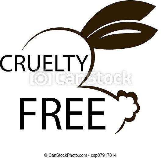 Animal crueldad libre de diseño de iconos. Diseño de símbolos libres de crueldad animal. Producto no probado en signo de animales con conejito. Ilustración de vectores. - csp37917814